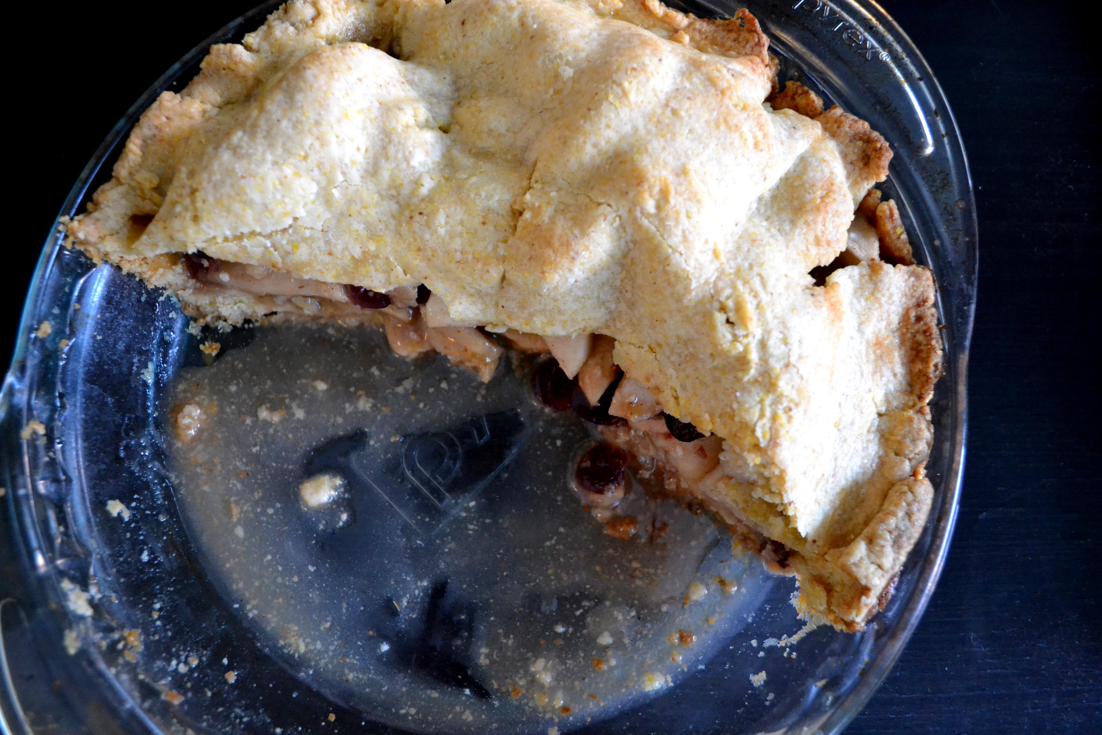 Brandy Apple-Cranberry Pie with Cornmeal Crust | Modern Tact